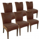 Rattan chair dining chair SET Bilbao 6 pieces full