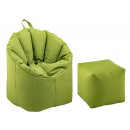 Beanbag set outdoor with stool Bamba ø 60 H 80 cm