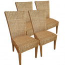 wholesale Garden Furniture: Dining Chairs Rattan Chairs Set Cardine 4 pieces