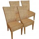 Großhandel Gartenmöbel: Rattan-Stuhl-Set Cardine, 4 Stück mit/ohne Sitzkis