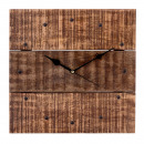 Wall clock living room clock made of wood Vintage
