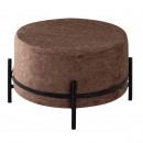 wholesale Small Furniture: Pouf Pouf, suede look Ø 55 H 37