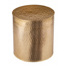 Side table metal ø 40 x 45 cm round decorative tab