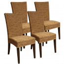 Dining Chairs Rattan Chairs Set Cardine 4 pieces