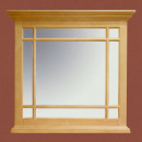 wholesale Mirrors: Wall mirror with wooden bars duo B 94 H 89 cm Pi