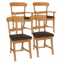 Chair-set Tanja each 2 pieces with and without arm