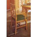 wholesale Cushions & Blankets: Dining chair with armrests and upholstered cushion