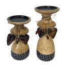 wholesale Candles & Candleholder: Candlestick Candlestick Set 2 pieces each with 1x