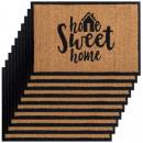 groothandel Tapijt en vloerbedekking: Kokosmatten set van 10 60 x 40 cm deurmat met moti