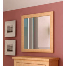 wholesale Mirrors: Wall mirror 90 x 90 cm with solid wood frame Quad