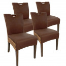 Rattan chair dining chair SET Bilbao 4 pieces full