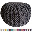 wholesale furniture: Knit stool pouf pouf pouf coarse knit opt