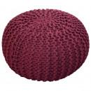 Strickhocker Pouf Sitzpouf Sitzpuff Rough-knit-Opt