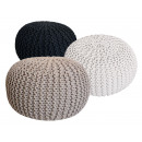 Pouf Stool SET 3 pieces Chunky knit Opti