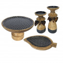 Cake plates set with foot and 1 snack dish Blat