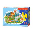 Puzzle CONTOUR 15 elements Little Deer