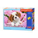 180 Puzzle elements Pup in Pink Flowers