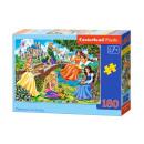 180 db puzzle PRINCESSES a kertben