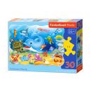 Puzzle of 30 elements CONTOUR Underwater Friends