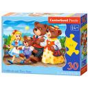 Puzzle di 30 elementi Goldilocks e Three Bears