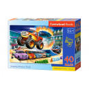 Puzzle 40 elementów MAXI JUMPING MONSTER TRUCK