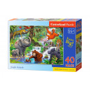 Puzzle 40 pezzi MAXI JUNGLE ANIMALS