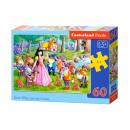 Puzzle 60 elements Snow White and Seven Dwarfs