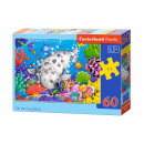 Puzzle of 60 elements On the Coral Reef