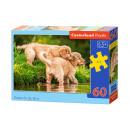 Puzzle de 60 elementos de los perritos por el río