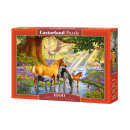 wholesale Puzzle: Puzzle 1000  elements HORSES BY THE STREAM