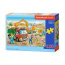 120 éléments de puzzle: Travaux de construction