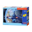120 Puzzle  elementen: Vreemd Ruimteschip