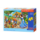 Puzzle 120 elements: Snow White and the Dwarfs