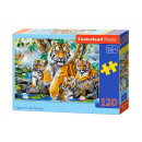 Puzzle 120 pezzi TIGERS BY THE Stream