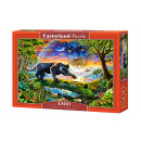 Puzzle 1500 pieces Panther Twighlight