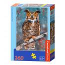 260 Puzzle  elementos: Gran búho de cuernos