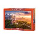 Puzzle 500 Blick auf das Schloss NEUSCHWANSTEIN GE