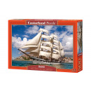 Puzzle 500 items Tall Ship Leaving Harbor