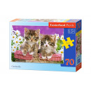wholesale Toys: Puzzle MIDI 70  elements: Kittens in a Basket