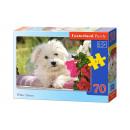 Puzzle MIDI 70 elements White Terrier