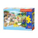 Puzzle of 30 elements CONTOUR: Farm