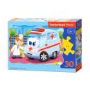 Puzzle of 30 elements CONTOUR: Ambulance Doctor