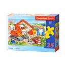 Puzzle MIDI 35 elements: Orange Excavator