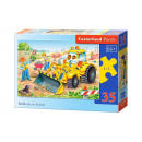 Puzzle MIDI 35  elements: Bulldozer in Action