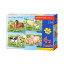 4X Puzzle ANIMAL MOMS AND BABIES 8 + 12 + 15 + 20