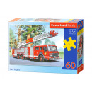 Puzzle of 60 elements: Fire Engine