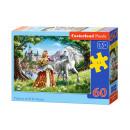 Puzzle de 60 éléments Princess et son ami