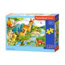 120 elementi puzzle: Little Deer