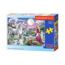 120 Puzzle -  Elemente: Princess und ihr Unicorns