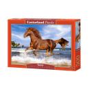 Puzzle 500 Teile: Pferd auf dem Strand